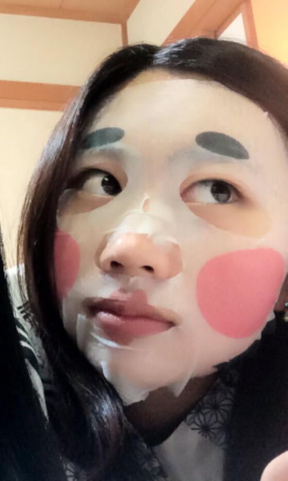 草津温泉でおかめさんのマスク(#^.^#)