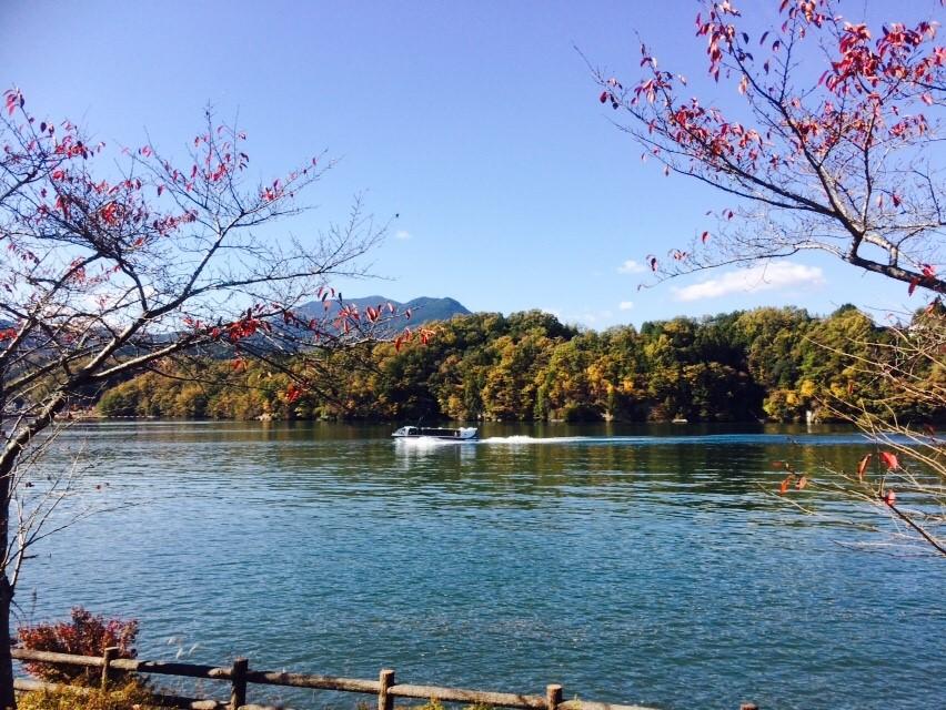 秋の恵那峡クルーズ 恵那峡遊覧船