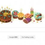 誕生日のGoogleのトップ画